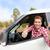 carro · motorista · teclas · feliz - foto stock © maridav