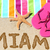 Miami · Florida · playa · viaje · escrito · arena - foto stock © Maridav