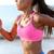 corrida · determinado · mulher · corredor · praia - foto stock © Maridav