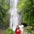 hawaii tourists hiking by waterfall stock photo © maridav