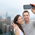 hong kong victoria peak tourists couple selfie stock photo © maridav