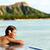 Hawaii beach travel woman relaxing at pool resort stock photo © Maridav