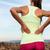 mujer · bajar · dolor · de · espalda · sesión · escritorio · portátil - foto stock © maridav