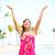 女性 · 瞑想 · 熱帯ビーチ · 若い女性 · ビーチ - ストックフォト © maridav