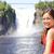 женщину · туристических · Квебек · улыбаясь · счастливым · красный - Сток-фото © Maridav