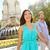 couple walking on plaza de espana madrid stock photo © maridav