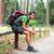 kirándulás · férfi · ül · hegy · terep · portré - stock fotó © maridav