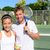portrait · souriant · sport · joueur · haltères - photo stock © maridav