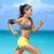 atleet · lopen · vrouw · runner · luisteren · naar · muziek · telefoon - stockfoto © Maridav