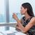 office woman drinking coffee thinking relaxing stock photo © maridav