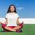 yoga fitness woman doing summer meditation outdoor stock photo © maridav