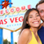 las vegas tourist couple at las vegas sign stock photo © maridav