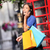 london woman talking happy smart phone shopping stock photo © maridav