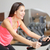 exercise bike fitness woman excising stock photo © maridav