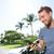 человека · смартфон · вождения · кабриолет · автомобилей - Сток-фото © maridav