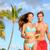 gelukkig · paar · strand · lopen · Hawaii - stockfoto © maridav