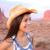 donna · sorridente · felice · americano · prateria · indossare · cappello · da · cowboy - foto d'archivio © maridav