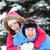 invierno · Pareja · feliz · a · cuestas · nieve · sonriendo - foto stock © maridav