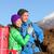 campers couple hiking enjoying looking at view stock photo © maridav