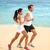 lopen · jogging · paar · opleiding · zomer · strand - stockfoto © maridav
