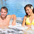 wellness spa   couple relaxing in hot tub whirlpool stock photo © maridav