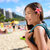 asian tourist woman on waikiki beach hawaii usa stock photo © maridav
