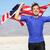 success   winning runner cheering with usa flag stock photo © maridav