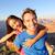 active happy lifestyle couple hiking grand canyon stock photo © maridav
