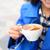 arte · xícara · de · café · mão · mulher · potável - foto stock © maridav