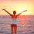 donna · spiaggia · tramonto · ragazza - foto d'archivio © maridav