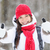 happy woman in snowstorm giving thumbs up stock photo © maridav