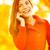 smartphone autumn woman talking on mobile phone stock photo © maridav