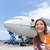 woman tourist getting out of airplane at airport stock photo © maridav