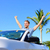 road trip travel   free man driving car in freedom stock photo © maridav