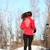 winter running woman in snow stock photo © maridav