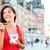 туристических · женщину · еды · мороженым · Квебек · город - Сток-фото © Maridav