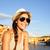 utazás · turista · lány · mutat · felirat · Olaszország - stock fotó © maridav