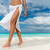 white pareo woman legs walking on tropical beach vacation stock photo © maridav