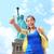 glücklich · Jubel · Frau · New · York · City · genießen · Ansicht - stock foto © maridav