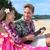 heureux · Hawaii · plage · couple · aloha · shirt - photo stock © maridav