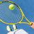 tennis player holding ball on racket court selfie stock photo © maridav