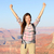 happy winner hiker woman in grand canyon cheering stock photo © maridav