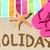 vacaciones · playa · viaje · texto · escrito · arena - foto stock © Maridav