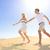 gelukkig · paar · lachend · samen · lopen · strand - stockfoto © maridav
