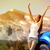 happy freedom car woman on summer road trip travel stock photo © maridav