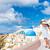 Avrupa · turist · seyahat · kadın · santorini · adası · Yunanistan - stok fotoğraf © Maridav