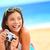 summer beach woman fun holding camera stock photo © maridav