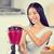 smoothie woman making fruit smoothies stock photo © maridav