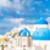 Avrupa · turist · seyahat · kadın · afiş · santorini · adası - stok fotoğraf © Maridav