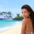 feliz · mulher · relaxante · Havaí · praia · férias - foto stock © maridav
